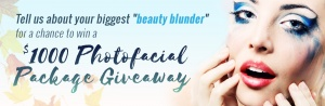 $1000 Photofacial Package Giveaway