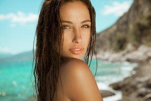 girl with beautiful skin